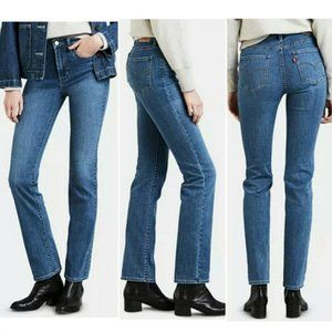 NWT Levi's 724 High Rise Straight Jeans 32x32 (14)